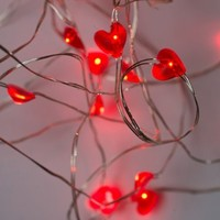 25 LED Hearts, 10 Ft. Long Bendable Copper Wire String Light - Great for Valentine's Day, Birthdays, and Anniversaries!