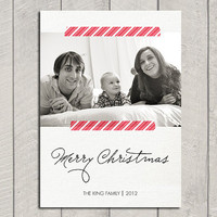 Christmas Photo Card - Digital - Printable - Custom