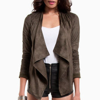 Oh Faux Sho Draped Jacket $36
