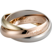 Trinity de Cartier 18ct white-gold, yellow-gold and pink-gold medium ring