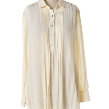 Classic Pleated Tunic: Ivory