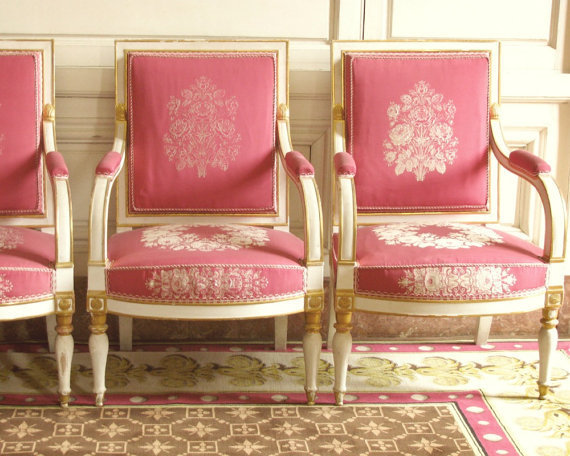 Pink Chairs  8x10 Versailles Photo by chezjolly on Etsy