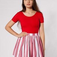 American Apparel Stripe Full Woven Skirt $15.00