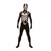 Full Body Discount Black and White Lycra Spandex Back Zipper Halloween Zentai Suit Eyes Open Fancy Dress for Halloween [TWL1112260851] - £31.39 : Zentai, Sexy Lingerie, Zentai Suit, Chemise