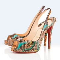 Christian Louboutin platforms n-prive 120mm multicolor - &amp;#36;185.00