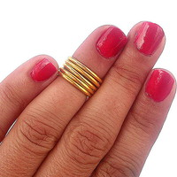 5 Above The Knuckle Rings - Gold Ab.. on Luulla