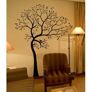 Amazon.com: BIG Tree with Bird Wall Decal Deco Art Sticker Mural: Home & Garden