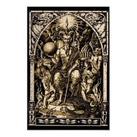 Satan Enthroned Art Poster from Zazzle.com