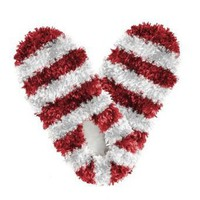 Fuzzy Footies - Red and White Striped, One Size Fits Most $10.99