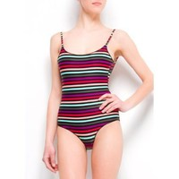 Mango Women`s Stripes Print One-piece $49.99