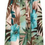 Smocked Sundress - Women`s Watercolor Tropics Spaghetti Strap Hawaiian Aloha Elastic Tube Top Knee...