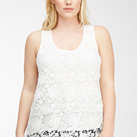 Scalloped Crochet Cutout Top