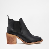 River Island Gusset Block Heeled Ankle Boots