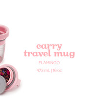Flamingo Carry Travel Mug - Our Fabulous Leakproof Travel Mug In A Head-Turning Shade Of Pink | DAVIDsTEA