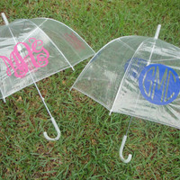 Personalized Monogram Clear Dome Umbrella