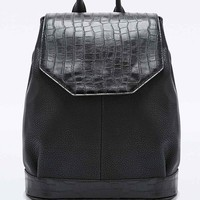 Deena & Ozzy Croc Angular Backpack in Black - Urban Outfitters