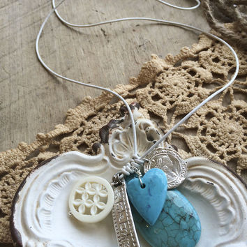 Chan Luu Turquoise Mix Necklace with Charms