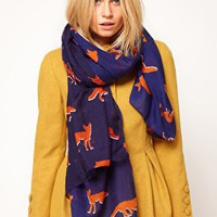 ASOS Fox Print Scarf at asos.com