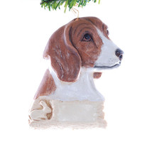 Personalized Beagle Christmas ornament - Beagle ornament - tan beagle Christmas ornament - dog ornament