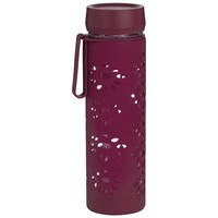 Trudeau 17oz. Glass Water Bottle - Red