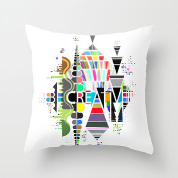 Be Creative Throw Pillow by Rel+