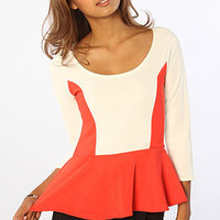 The Marcella Top in Coral