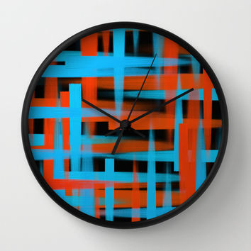 Abstract   Oil brush strokes Wall Clock by EDrawings38