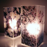 Glass Polaroid Photo Table Lamp  You Choose the by jerseymaids