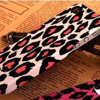 Cute White leopard Hello Kitty Ultra thin Scrub PC Soft Case Cover for iphone 4 4S