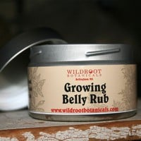 Growing Belly Rub by wildroot on Etsy