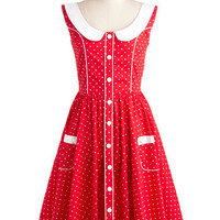 Dotted Dessert Dress | Mod Retro Vintage Dresses | ModCloth.com