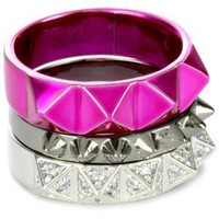 Amazon.com: nOir For Barbie Stackable Pyramid Rings, Size 6: Jewelry