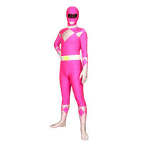 Full Body Fancy Dress for Halloween Costume Pink and White Lycra Spandex Back Zipper Universal Soldier Zentai Suit [TWL1112260911] - 23.39 : Zentai, Sexy Lingerie, Zentai Suit, Chemise