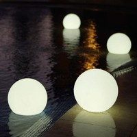 waterproof outdoor lights at Brookstone