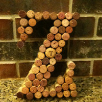 Wine Cork Decor Letters - Letters A-Z