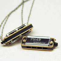 Mini harmonica necklace 4 note genuine harmony by urbanaviary