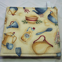 Kitchen, Pot Holders, Set of Two, Kitchen Utensils, Kitchen Items