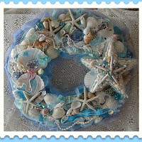 Maggy Mermaid Beach Cottage Wreah by treasured2 on Etsy