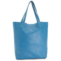 THE PERFECT LEATHER TOTE 'ALPHA' BLUE