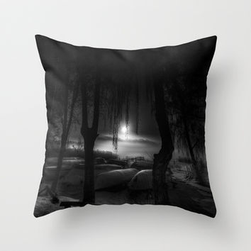 Night of the living dead fishermen Throw Pillow by HappyMelvin