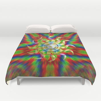 Sunshine delica Duvet Cover by Webgrrl
