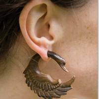 Swan Song Earrings: Soul-Flower Online Store