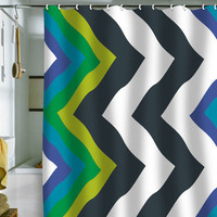 DENY Designs Home Accessories | Karen Harris Modernity Galaxy Cool Chevron Shower Curtain