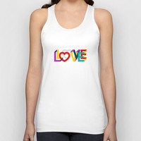 IN LOVE ANYTHING GOES ! Unisex Tank Top by THE USUAL DESIGNERS