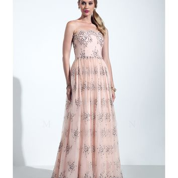 Preorder - Mignon VM1566 Blush Pink Lace & Pearl Gown
