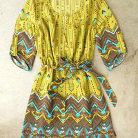 Hendrix Dress in Chartreuse [3340] - $37.00 : Vintage Inspired Clothing & Affordable Fall Frocks, deloom | Modern. Vintage. Crafted.