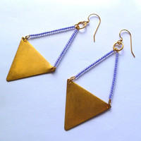Purple Triangle Earrings – Graffiti Beach