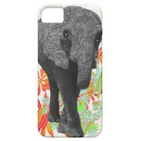Cute Hippy Elephant iPhone 5 Cases from Zazzle.com