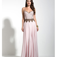 Preorder - Mignon VM1496 Blush Pink Dotted Bodice Gown 2015 Prom Dresses