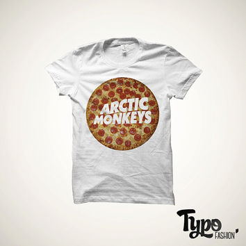 Arctic monkeys pizza T-shirt top! Tumblr Pinterest Instagram and other social networks inspired.  Available for men and women.